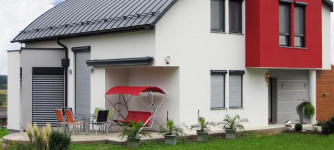 Rolladen, Kunststoff, Terrasse